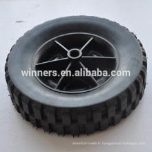 Roue en plastique roue en caoutchouc solide de 8 pouces pour poubelle