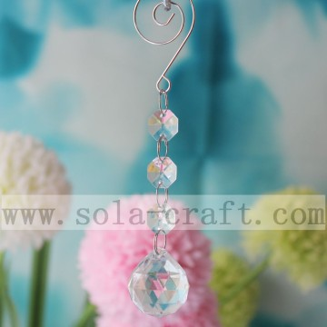 Clear Chandelier Hanging Crystal Plastic Ball Drop Strass