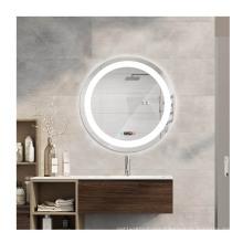 5mm environmental protection glass bathroom led light round mirror