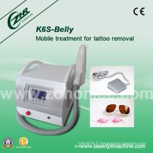 K6s Détection de tatouage de qualité supérieure Q-Switch YAG Laser Beauty Equipment