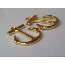 custom fashion gold design pendant boy and girl