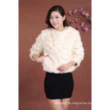 Neuer Entwurfs-moderne Jacken-Frauen-Kurzschluss-Jacken-Pelz-Mantel-Outwear-Pelz-Jacke