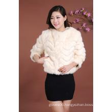 Newly Design Modern Jacket Women Short Jacket Fur Coat Outwear Fur Jacket