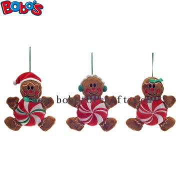 Günstigstes Weihnachtsplüsch gefülltes Lebkuchenmann Spielzeug Weihnachtsprodukt