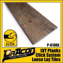 Durable Click Lock PVC Tiles Vinyl Floor (P-6136)