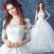 Luxus Brautkleid Prinzessin Kleid 2016 weiß Günstige Brautkleider