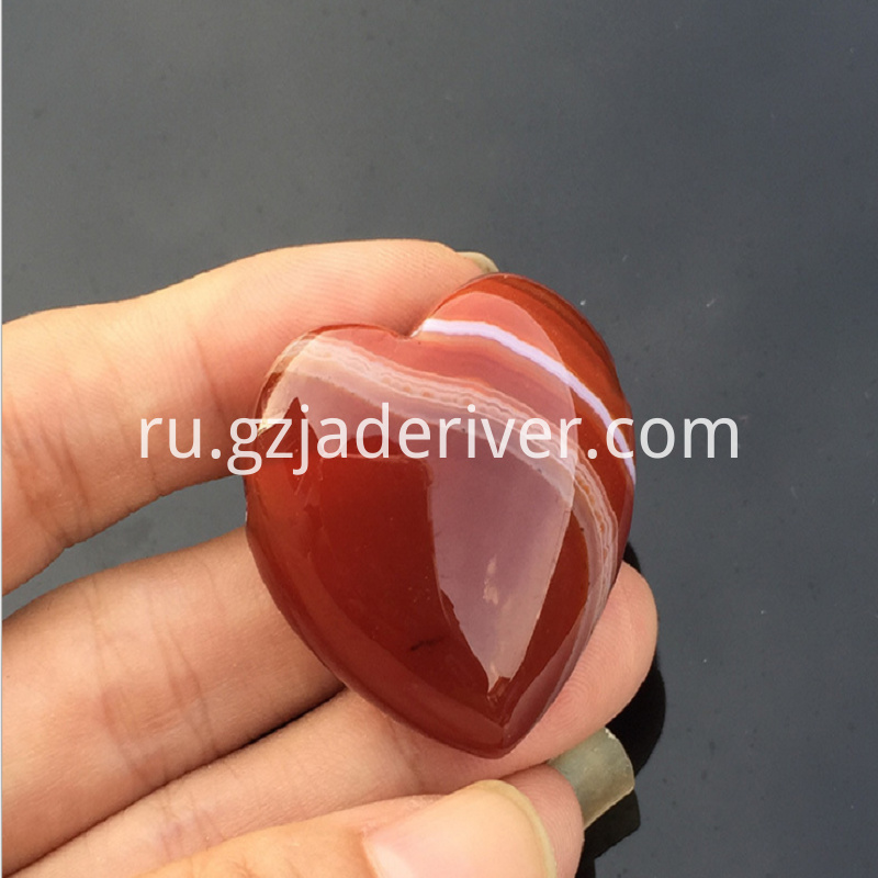 Heart-shaped agate stone semi-finished product