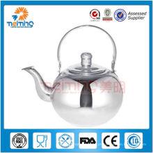 Chaleira de chá não elétrica de aço inoxidável 2.5L com infusor