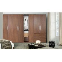 Armário de madeira de guarda-roupa de quarto de moda (HF-EY09043)