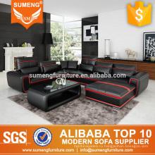 SUMENG новое прибытие U-образный кожаный угловой диван