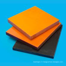 Feuille de résine phénolique bakélite noire / orange