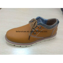 Latest High Quality Leather Sport Shoes Stock (FF616-1)