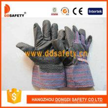 Черный ПВХ перчатки с полосой сзади Dgp108