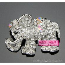 Cutie claro y broche de elefante de piedra AB