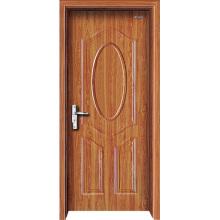 Puerta interior Puerta de madera de acero con panel