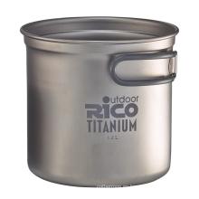Alta calidad titanio Camping bote 1,2 L