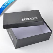 Boîte d'emballage de stockage de couleur blanche de conception unique