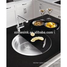 Stainless Steel Round Kitchen Sink with Trendy Shade