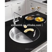 Круглая раковина кухни нержавеющей стали с модным оттенком