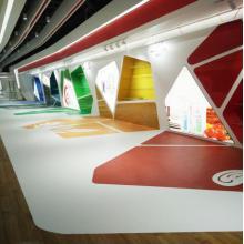 3D customer design for indoor vinyl flooring