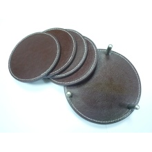 Genuine Leather Coaster Set, Cup Mat, Cup Pad CS-002