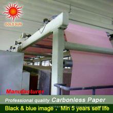Favoritos Comparar rollo de papel NCR de 2 capas Papel autocopiativo de alta calidad con papel de fotocopiadora azul