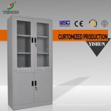 Modern office furniture customized office steel double swing door cabinet