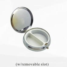 Caja de almacenaje cosmética del metal de plata (BOX-33)