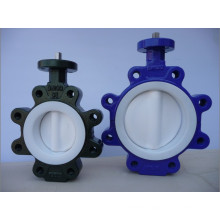 Full PTFE Coated Lug Type Butterfly Valve