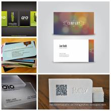 Schöne Design schwarze Metall Visitenkarten mit Barocde Namenskarten Visitenkarten