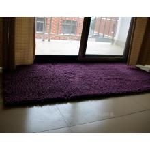 Puple Farbe Tür Matte Chenille Teppich
