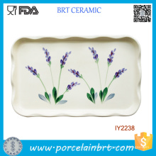 Hot Irregular Rectangle Wavy Edge Ceramic Plate