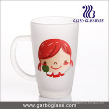 12oz Decal Printed Frosted Glass Mug (GB094212-DR-106)