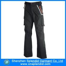 Top-Qualität China Black Herren 100% Baumwolle Hosen mit Tasche