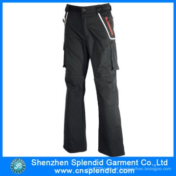 Top Qualidade China Black Mens 100% Algodão Calças com bolso