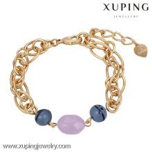 73975-Xuping moda pulsera mujer regalos joyería con 18k chapado en oro