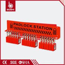 Puede ser equipado con candado de 15 candados de acero / estación de bloqueo