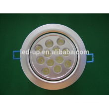 Zhongshan levou para baixo luzes 12W rodada luz interior levou luz de teto