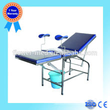 Hot sale stainless steel light parturition bed