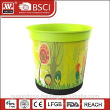 Heißer Verkauf In-Mold Kennzeichnung Kunststoff Blumentopf für Haus/Garten dekoriert