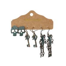 Shangjie OEM Halloween Gift Skull Pumpkin Pendant Earrings Jewelry for Women Ghost Halloween Earrings Set Statement Earrings