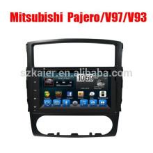 9 '2 din Android Car GPS Navigator Radio reproductor de DVD para Mitsubishi Pajero V97 / V93 precio de fábrica con pantalla táctil completa