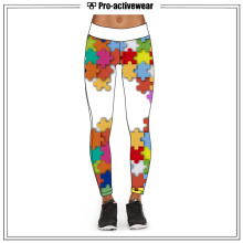 New Style Custom Sublimation Yoga Calças Leggings