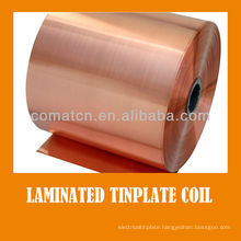 Golden color laminated varnish tinplate coil for metal can package
