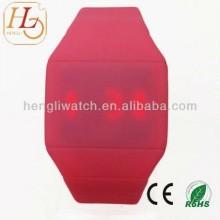 Relógio liso do diodo emissor de luz do silicone muitos cor, relógios de Digitas 15021 da tela de toque