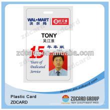 Carte d'identité des employés en plastique Carte d'identité Facebook en PVC