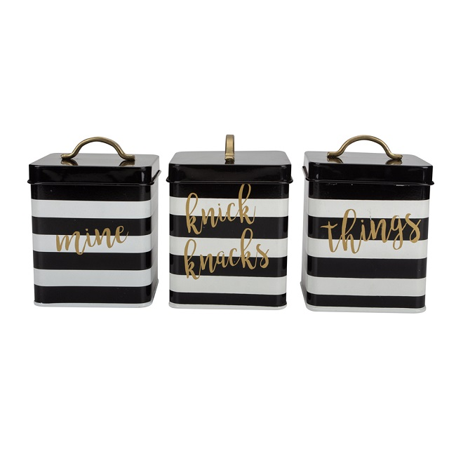 Next Stripe Storage Canister SeT 3