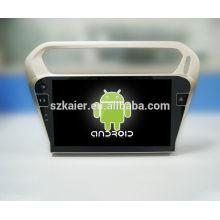 ¡Cuatro nucleos! DVD del coche de Android 4.4 / 5.1 para PEUGEOT 301 con pantalla capacitiva de 10.1 pulgadas / GPS / Enlace reflejado / DVR / TPMS / OBD2 / WIFI / 4G