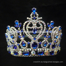 2015 nuevos rhinestones de la manera del estilo que casan las coronas del peine de la tiara del pelo