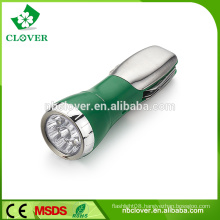 Multi-function emergency 4 WHITE LED+1 RED LED strong light flashlight with knife